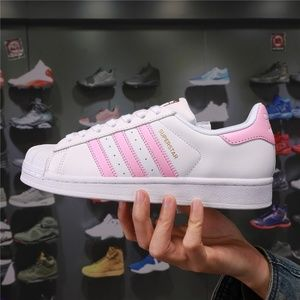 Adidas Superstar Shell Toe Pink Shoes Sneakers